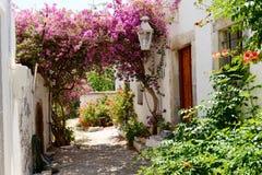 Beautiful garden and hous at Sisi, Crete Stock Image