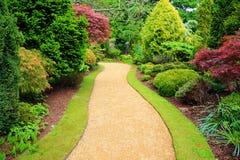 Beautiful Garden In Springtime In Scotland Stock Photos