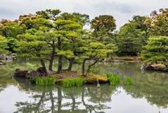 Beautiful garden in Kinkaku-ji Temple Stock Photo