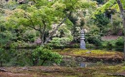 Beautiful garden in Kinkaku-ji Temple Stock Images