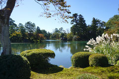 Beautiful garden landscpae at Kenrokuen garden Royalty Free Stock Images