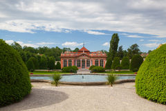 Beautiful garden near the Cernin palace in Prague. Ministry of Foreign affairs Stock Photo