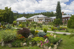 Beautiful garden and nuns house Royalty Free Stock Photos