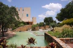 Beautiful garden park design. Beautiful garden park in the city San Antonio, TX Stock Images