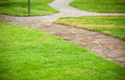 Beautiful garden path Stock Images