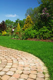 Beautiful garden and Path Royalty Free Stock Photography