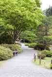 Beautiful garden path in Japanese Garden Royalty Free Stock Photo