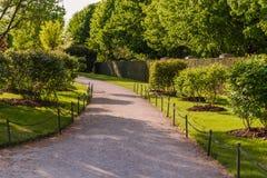 Beautiful garden path. A verdant garden and path Stock Photography