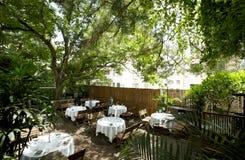 The Beautiful garden restaurant Stock Images