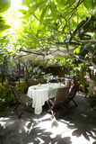 The Beautiful garden restaurant Royalty Free Stock Photography