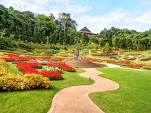 Beautiful garden in royal palace, Chiangrai, Thailand Royalty Free Stock Photos