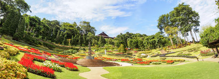 Beautiful garden in royal palace, Chiangrai, Thailand Royalty Free Stock Photography