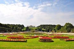 Beautiful Garden of Schonbrunn Palace Vienna Austria Stock Image