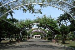 A beautiful garden in the school Stock Photos