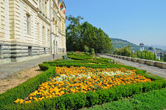 Beautiful garden in Sighisoara, Romania Royalty Free Stock Images