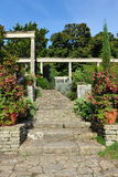 Beautiful Garden Steps Stock Image