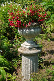 Beautiful garden stone flower planter Royalty Free Stock Photos