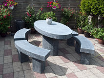 Free Beautiful Garden Stone Seating Corner Stock Photos - 12098213