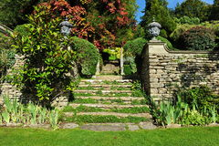 Beautiful Garden. Stone Steps in a Beautiful Garden Royalty Free Stock Image
