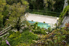 Beautiful garden with swimming pool Royalty Free Stock Photos