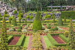 Beautiful garden in thailand. Beautiful tropical garden in thailand Royalty Free Stock Photos