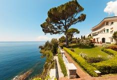 Beautiful garden of a villa Royalty Free Stock Image
