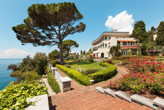 Beautiful garden of a villa Royalty Free Stock Images