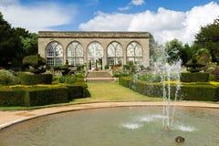 Beautiful garden at Warwick castle Royalty Free Stock Photos