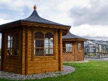 Beautiful  garden wood glass classical pavilion Royalty Free Stock Photos