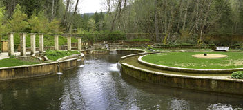 Beautiful Gardens. Oregon gardens. Complete with stone pathways and waterfalls Stock Photography