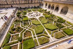 Beautiful gardens in Amer Fort, Royalty Free Stock Images