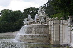 Beautiful gardens and architecture at Schonbrunn Palace Royalty Free Stock Images