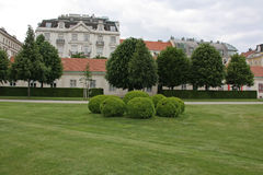 Beautiful gardens and architecture at Schonbrunn Palace Stock Images
