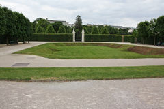 Beautiful gardens and architecture at Schonbrunn Palace Royalty Free Stock Photos