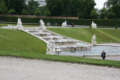 Beautiful gardens and architecture at Schonbrunn Palace Stock Photos