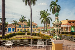 Beautiful gardens in Plaza Mayor - Trinidad, Cuba Stock Image