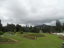 The beautiful gardens of Powerscourt, Ireland royalty free stock image