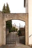 Beautiful gate entrance to a garden Stock Photo