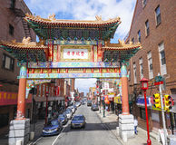 Beautiful Gate to Chinatown in Philadelphia - PHILADELPHIA - PENNSYLVANIA - APRIL 6, 2017. Beautiful Gate to Chinatown in Philadelphia - PHILADELPHIA Royalty Free Stock Image