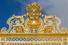 Beautiful gate of Versailles palace Stock Photography