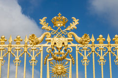 Beautiful gate of Versailles palace Royalty Free Stock Photography