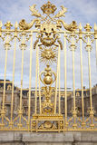 Beautiful gate of Versailles palace detailed fence near Paris Stock Photos
