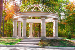 Beautiful gazebo in autumn park . Stock Image