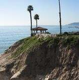 Beautiful gazebo overlooks pismo beach Stock Image
