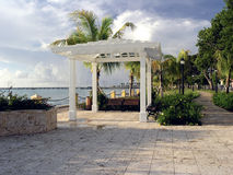 Beautiful Gazebo on Waterfront. Beautiful gazebo on the waterfront in historic Fredriksted, St. Croix, U.S. Virgin Islands Stock Photos
