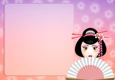 Beautiful geisha background Stock Photo
