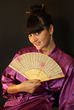 Beautiful geisha girl Royalty Free Stock Photos