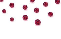 Beautiful gem stones isolated on white Royalty Free Stock Photo