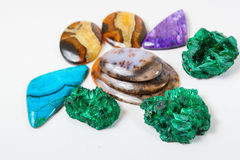 Beautiful gems background Stock Photo