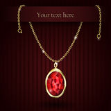 Beautiful gemstone red ruby Royalty Free Stock Photography